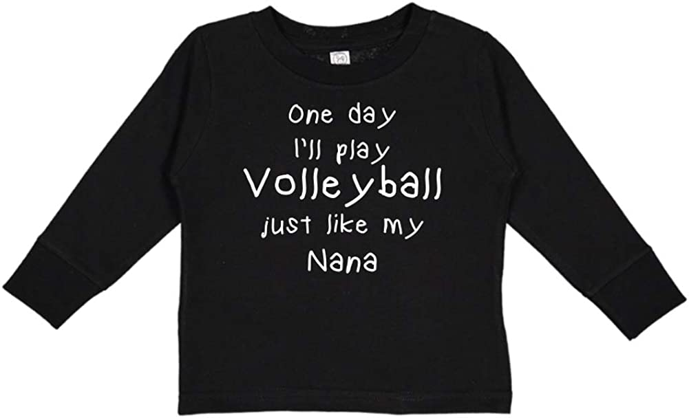 One Day Ill Play Volleyball Just Like My Nana Toddler//Kids Long Sleeve T-Shirt