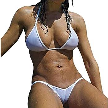 Amazon.com: Lena Style Women's Green Sheer Micro Bikini G