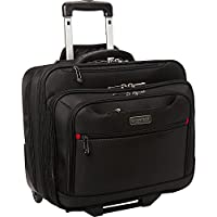 Heritage Products Polyester Wheeled Business Case Briefcase (Black)