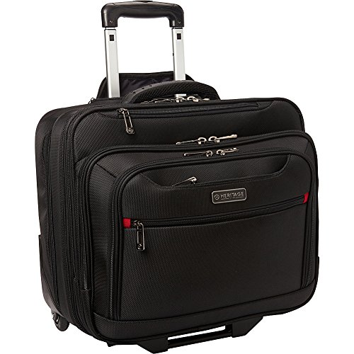 Heritage Polyester Wheeled Business Briefcase