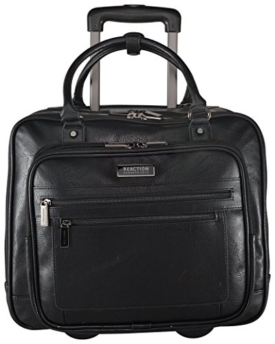 Kenneth Cole Reaction Wheel Fast Double Compartment Top Zip Wheeled Computer Case Overnighter (Black) by Kenneth Cole REACTION (Image #1)