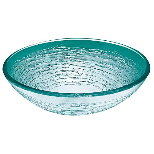 Pegasus Sink Accessories - Pegasus G-242 Swirl Glass Vessel Sink, Frosted
