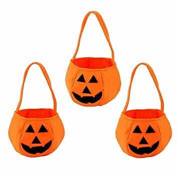 Minleer 3 Piezas Bolsas de Dulces de Halloween, Bolsa de ...