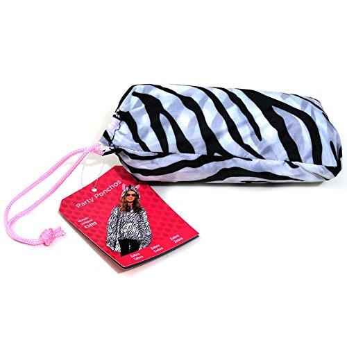 Adult's Zebra Print Poncho (Zebra Costumes For Adults)