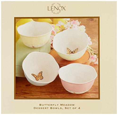 Juego de 4 tazones de postre de 12 onzas de Lenox Butterfly Meadow