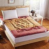 French matte soft mmattress thickened coral velvet student matt mat-A 90x200cm(35x79inch)