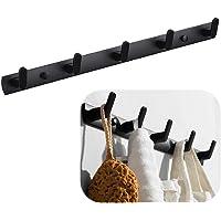 45,0 * 3,3 cm Moderne Zwarte Hanger Houder, Handdoek Rekhaak, Muur gemonteerde Coat Racks met 5 Haken