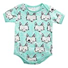 Newborn Baby Boys Girls Fox Short Sleeve Romper Bodysuit Playsuit Outfits (9-12 Months)