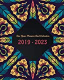 """2019-2023 Five Year Planner And Calendar: Ethnic Feathers Cover, Daily,Monthly Schedule Organizer, 60 Months Calendar Planner Agenda with Holidays 8"""" x 10"""""""