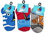Disney Pixar's Finding Dory Assorted Kid's Sock Collection (Sock Size 6-8.5, 3 Pairs)