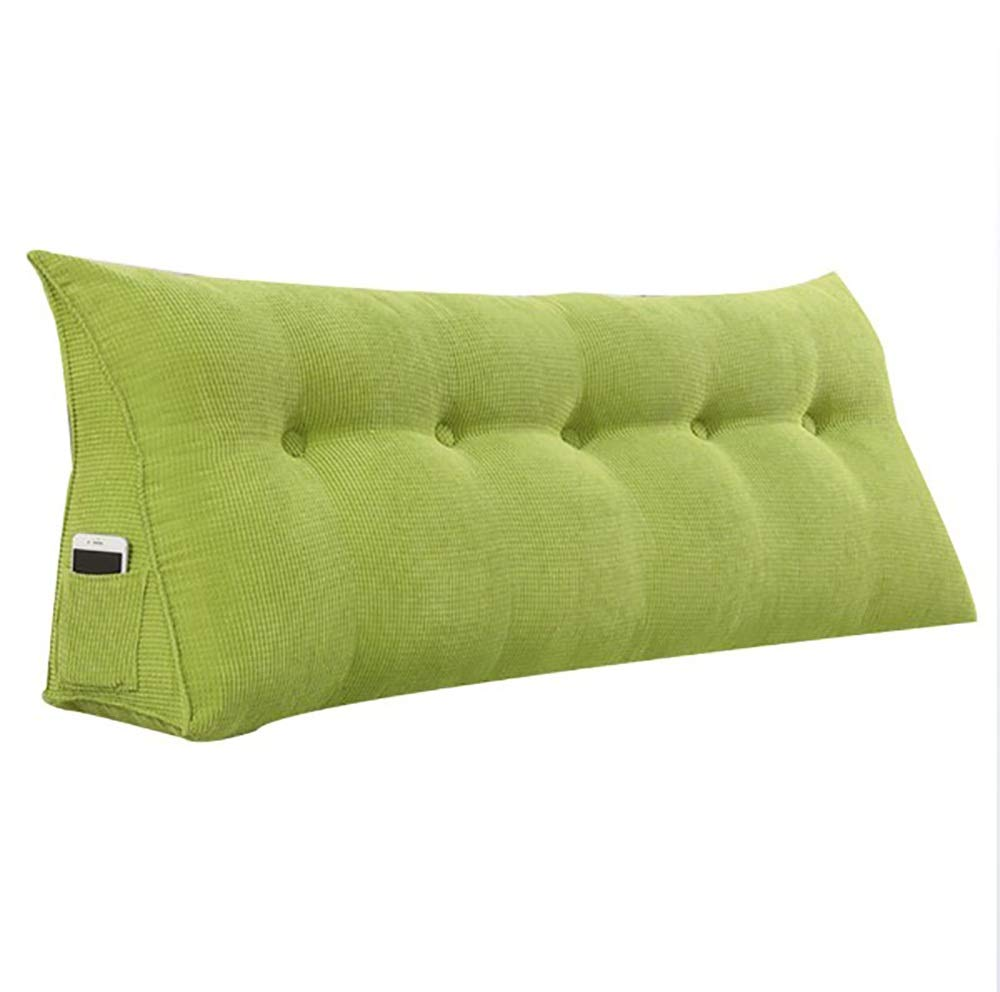 Green 1805022cm LXLIGHTS Upholstered Headboard Bedroom Anti-Collision Bed Wedge Waist Pad Bedside Cushion Bay Window Sofa Pillow Soft Case (color   bluee(C), Size   60  50  22cm)