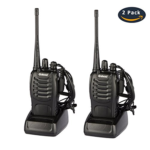 BaoFeng BF-888S Walkie Talkies Long Range 2 Way Radio with Original Earpieces and Mic - 16CH Single Band Portable Two Way Radio for Kids and Adults Field Survival Hiking Hunting (2Pack)