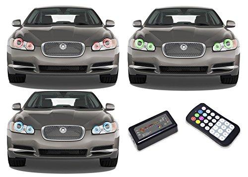 Flashtech Jaguar XF 09-11 V.3 Fusion Color Change RGB Multi Color LED Halo Ring Headlight Kit with Colorfuse RF Remote by Flashtech