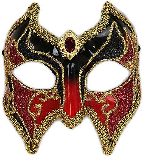 V Glitter BlackGold Masquerade Mask