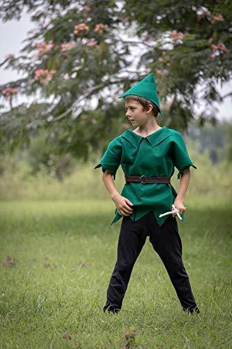 Peter Pan Halloween Costume Robin Hood 3 Piece Felt Dress up Pretend Play Girl or Boy]()
