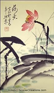 Original Chinese Brush Painting - Lotus