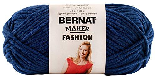 Bernat Maker Fashion Yarn (5) Bulky Gauge  - 3.5oz -  Blue  -  Machine Wash & Dry For Crochet, Knitting & Crafting