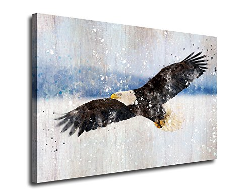 Canvas Wall Art American Eagle Statue Painting Artwork Picture Print on Canvas 24