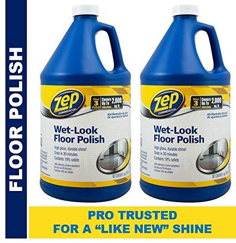 Zep WetLook Floor Polish 128 ounces ECZUWLFF1282 Pack of 2