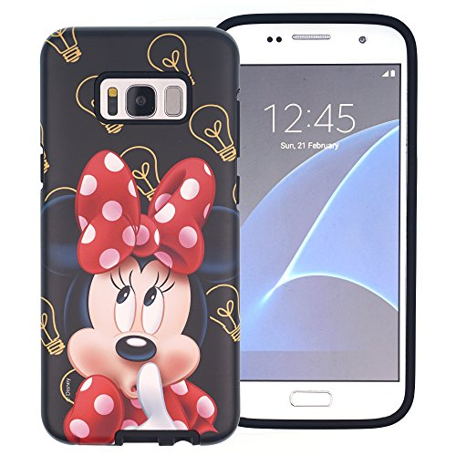 Funda Galaxy S8 Plus [Protección híbrida contra caídas] DISNEY Minnie Mouse Linda Doble Capa Hybrid Carcasas [TPU + PC] Parachoques Cubierta para [ Samsung Galaxy S8 Plus ] - Minnie Mouse Idea Minnie Mouse Idea (Galaxy S8 Plus)