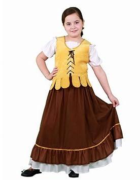 Disfraz de Mesonera Medieval para niña: Amazon.es: Juguetes ...