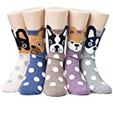 Socksense Hello Puppy Dogs Women's Socks 5pairs(5color)=1pack Made in Korea, One Size