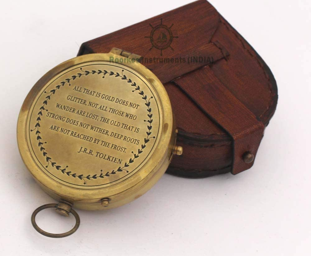 A NAUTICAL REPRODUCTION HOUSE RII Compass with Case ROORKEE INSTRUMENTS INDIA