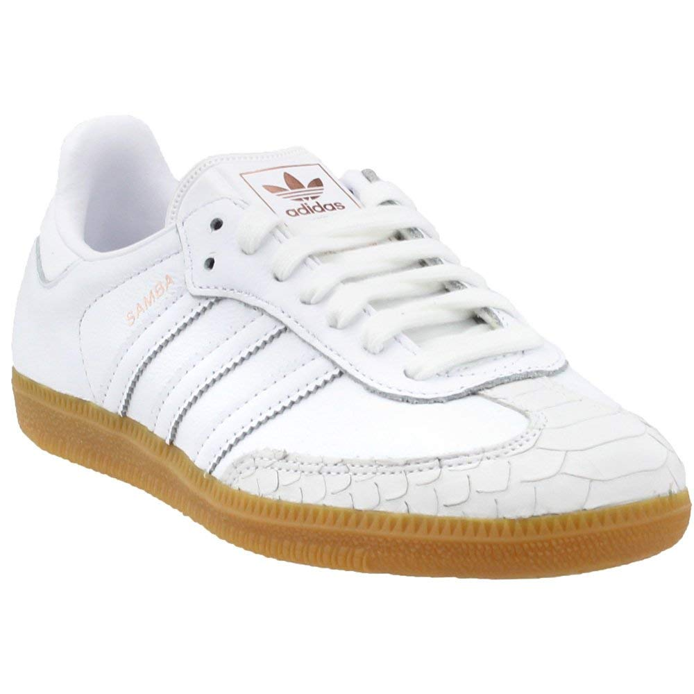 White Adidas Womens Samba Casual Athletic & Sneakers