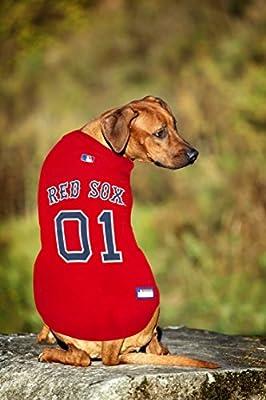 2ba24a52b Amazon.com : Pets First MLB Boston RED SOX Dog Jersey, Large. - Pro ...