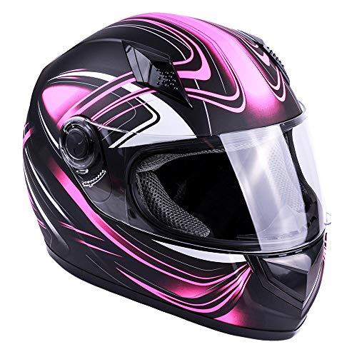 Typhoon Adult Full Face Motorcycle Helmet DOT (Matte Pink, Small) (Best Full Face Motorcycle Helmet Under 100)