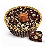Box of 2 Hazelnut Luv Superfoods Beegan-Bites - Raw Honey Sweetened Dark Chocolate (20g each)
