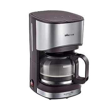 Cafetera Máquina De Café Filtro KFJ-A07V1 550 W Café Expreso Americano Tipo De Filtro De Goteo Maquina De Espresso 0.7L 14 Taza Puede Ser Aislada Rosa Gris: ...