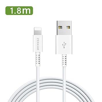 zerkar Cable Cargador Phone 1.8M Phone Cable Longitud Extra ...