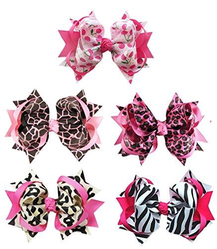 zebra hair clips - 8