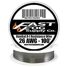 Fast Fog 100 ft - 26 Gauge AWG Kanthal A1 Resistance Wire 100' Length