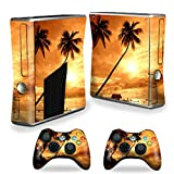 MightySkins Protective Vinyl Skin Decal Cover for Microsoft Xbox 360 S Slim + 2 Controller skins wrap sticker skins Sunset Review
