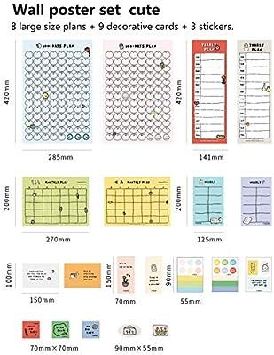 domiluoyoyo 2020 Plan de estilo simple, papel bonito, calendario ...