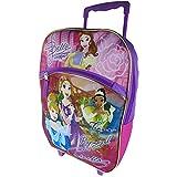 Disney Princess Roller Back Pack Luggage Travel Bag Kids Children