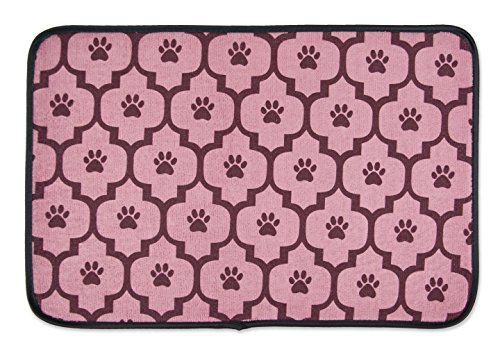 DII Bone Dry Small Microfiber Pet Mat for Food, Water, Treats, Ultra-Absorbent & Machine Washable Food Mat for Dogs and Cats