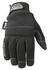 Black Winter Gloves, TouchScreen, 80-gram Thinsulate Insulation, Fleece-Lined, Large (Wells Lamont 7760L)