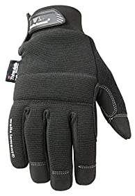 Wells Lamont Black Winter Gloves with Touch Screen Capability, 80-gram Thinsulate Insulation, Large (7760L)