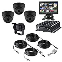 TrackSec 4 Channel AHD 720P HDD Mobile DVR Camera System Car Black Box Kit, Black (TD108GCA)