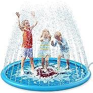 "Jasonwell Splash Pad Sprinkler for Kids 68"" Splash Play Mat Outdoor Water Toys Inflatable Splash Pad Baby"