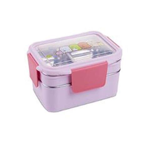 Lunch Bento Box Tupper Design con 2 Cubiertos de Acero ...