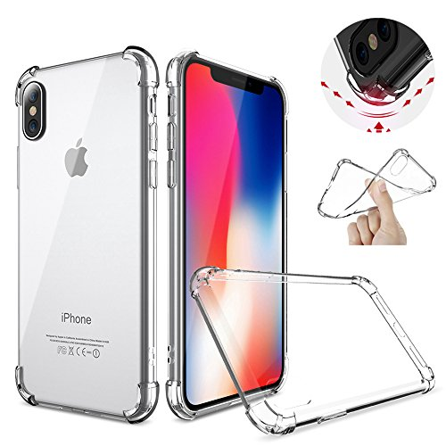 Iphone X Case, case Iphone 10, Iphone X Clear Protection Shockproof Slim Fit Crystal Transparent Clear Flexible Soft Gel TPU Cover Shell Skin for Apple 5.8 Iphone X iphone 10 New 2017