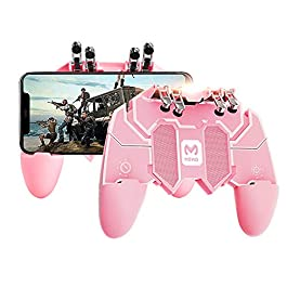 Newseego Mobile Game Controller, [Upgrade] Game Controller Gamepad with L1R1 6 Fingers Trigger for Shooter Sensitive and…