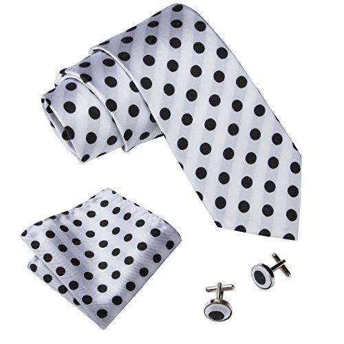 Black Dots Mens Necktie - 2