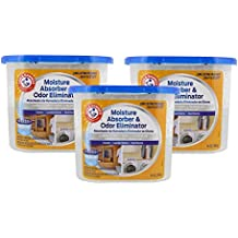 Arm & Hammer Moisture Absorber & Odor Eliminator 14oz Tub, 3 Pack - Eliminates Musty Odors & Freshens Air for Closets, Laundry rooms, Mud Rooms