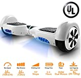 Coocheer Electric Hoverboard UL 6.5 inch Hover Board Led Smart Self Balancing Board Personal Transportation