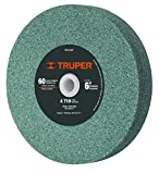TRUPER PIES-6160T 6' Silicon Carbide Bench Grinding Wheels. Grit=60, Thickness=1', Drill=1'. 1 Pack